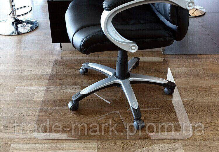 Защитный коврик под кресло из поликарбоната Tip Top™ 2.0мм 1000*1500мм Прозрачный (прямые края)