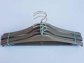 Плечики вешалки тремпеля Турок цвета хаки, длина 40 см, фото 2