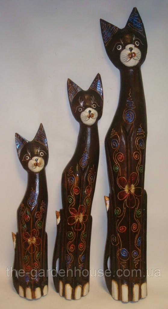 """Дерев'яний кіт """"Сонце"""", 80 см"""