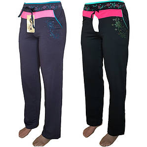 Спортивные штаны женские двухнитка весна S-2XL микс