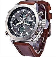 Наручные мужские армейские часы Amst Watch Коричневые, фото 1