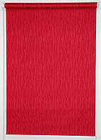 Готовые рулонные шторы 400*1500 Ткань Лазурь 2088 Вишнёвый, фото 1