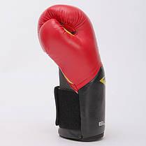 Перчатки боксерские PU на липучке Everlast PRO STYLE ELITE (14oz, красный-черный) PZ-P00001198, фото 2