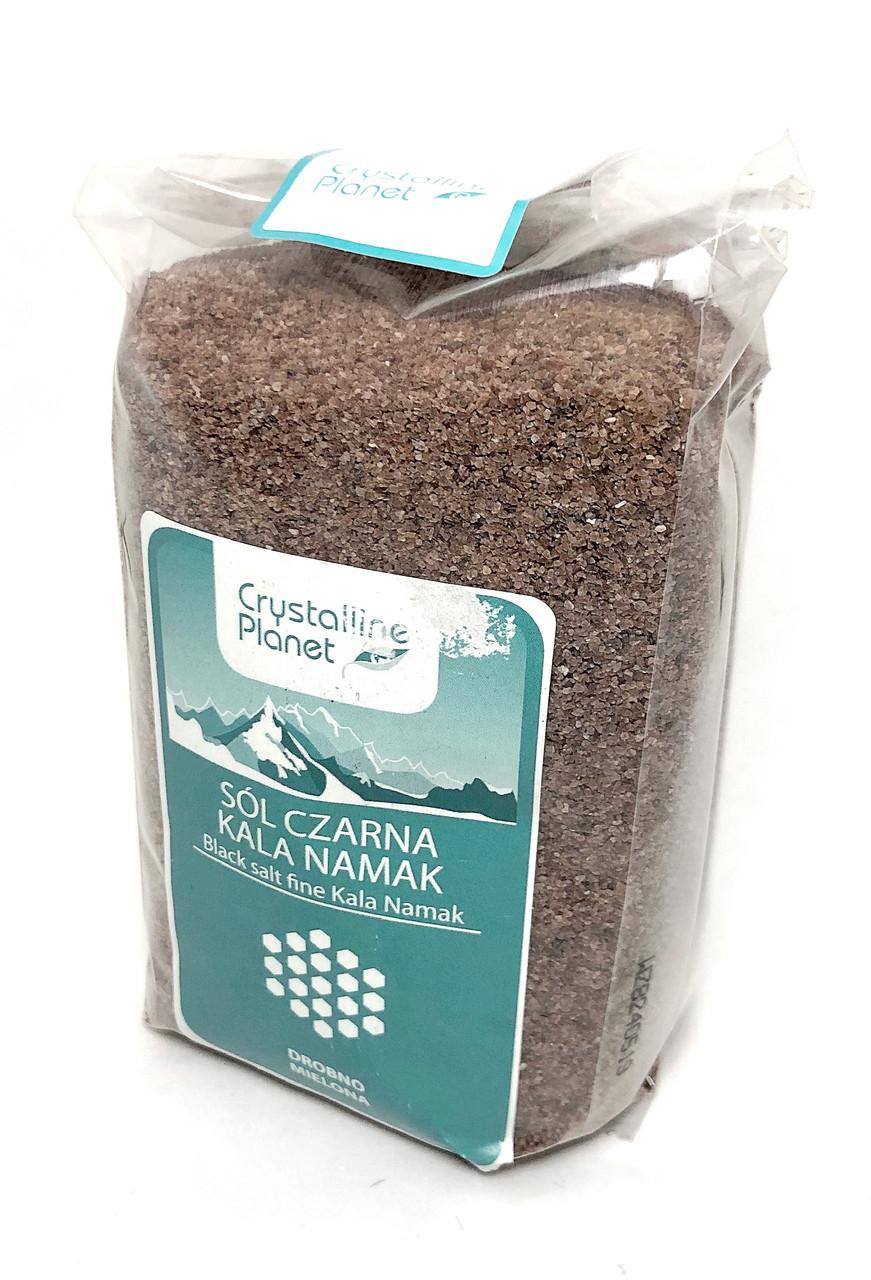 Соль черная Кала намак мелкого помола, 600 г, Crystalline Planet