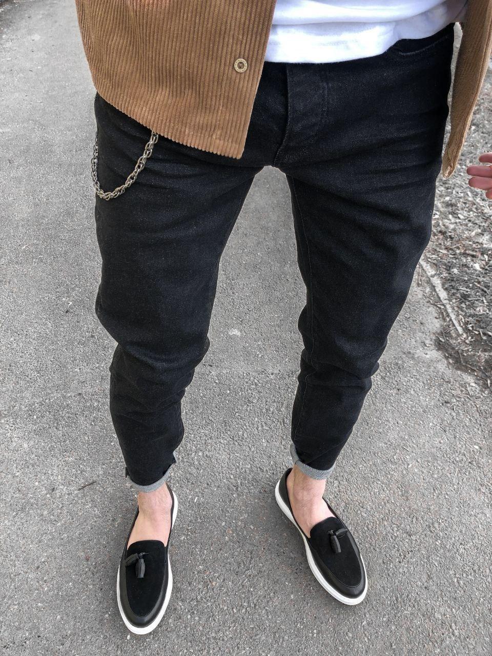 😝 Джинси Стильні чоловічі джинси під лофери