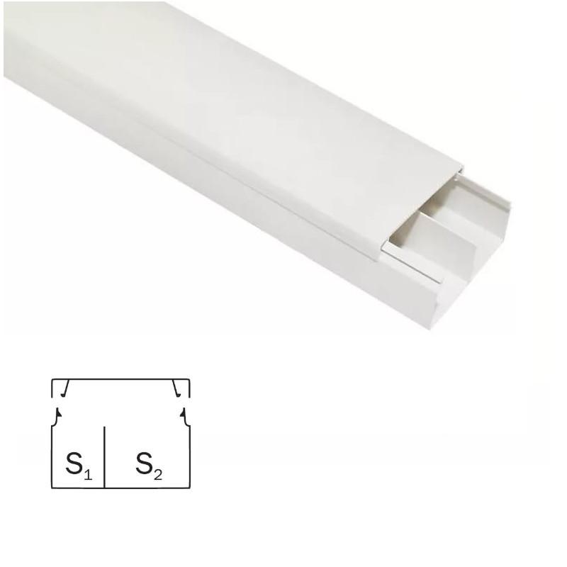 Пластиковый короб для проводов 40/2х16 ЭЛЕКОР (30 м)