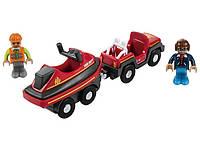 Пожарная команда с водным скутером для деревянной железной дороги Playtive Junior
