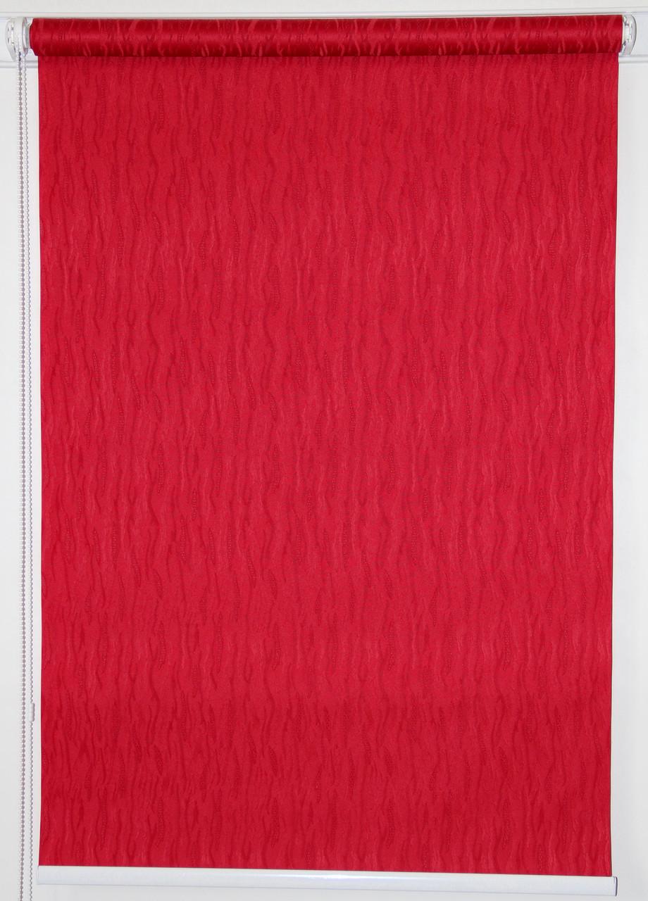 Готовые рулонные шторы 1100*1500 Ткань Лазурь 2088 Вишнёвый