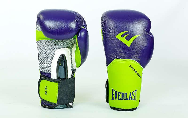Перчатки боксерские кожаные на липучке Everlast PRO STYLE ELITE (10-12oz) PZ-BO-5228