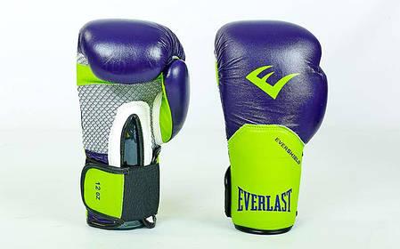 Перчатки боксерские кожаные на липучке Everlast PRO STYLE ELITE (10-12oz) PZ-BO-5228, фото 2