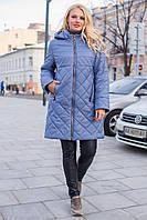 Женская куртка весна осень большого размера 50-66 деним