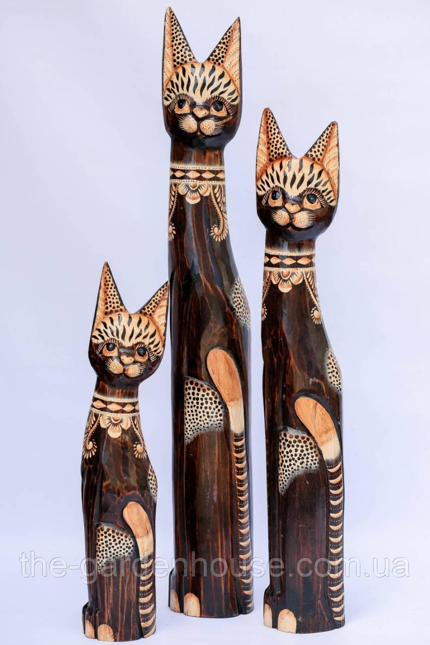 Напольная статуэтка кошки в цветочек, 80 см