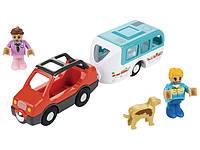 Авто с автоприцепом и откидной крышей для деревянной железной дороги Playtive Junior