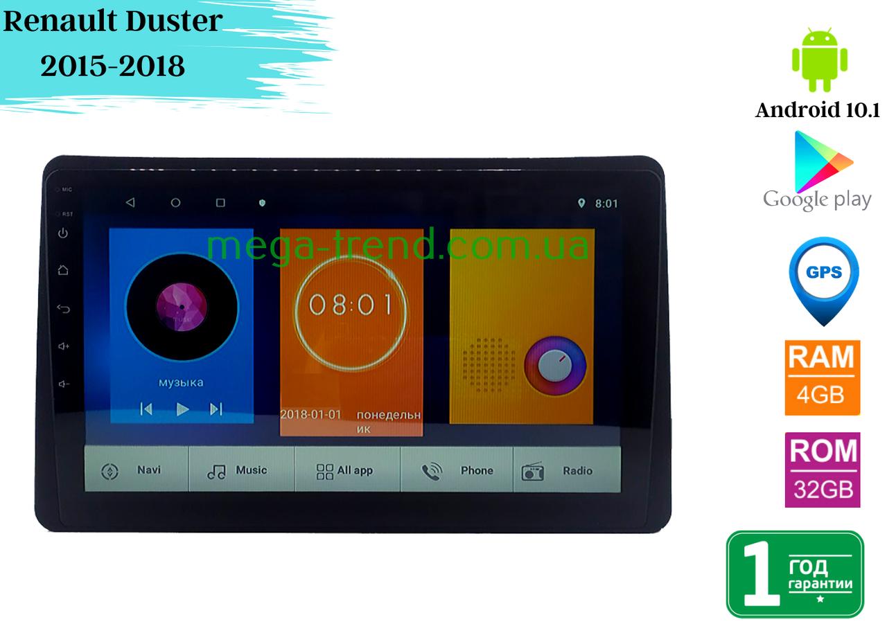 "Штатная магнитола Renault Duster 2015-2018 (10"") Android 10.1 (4/32)"