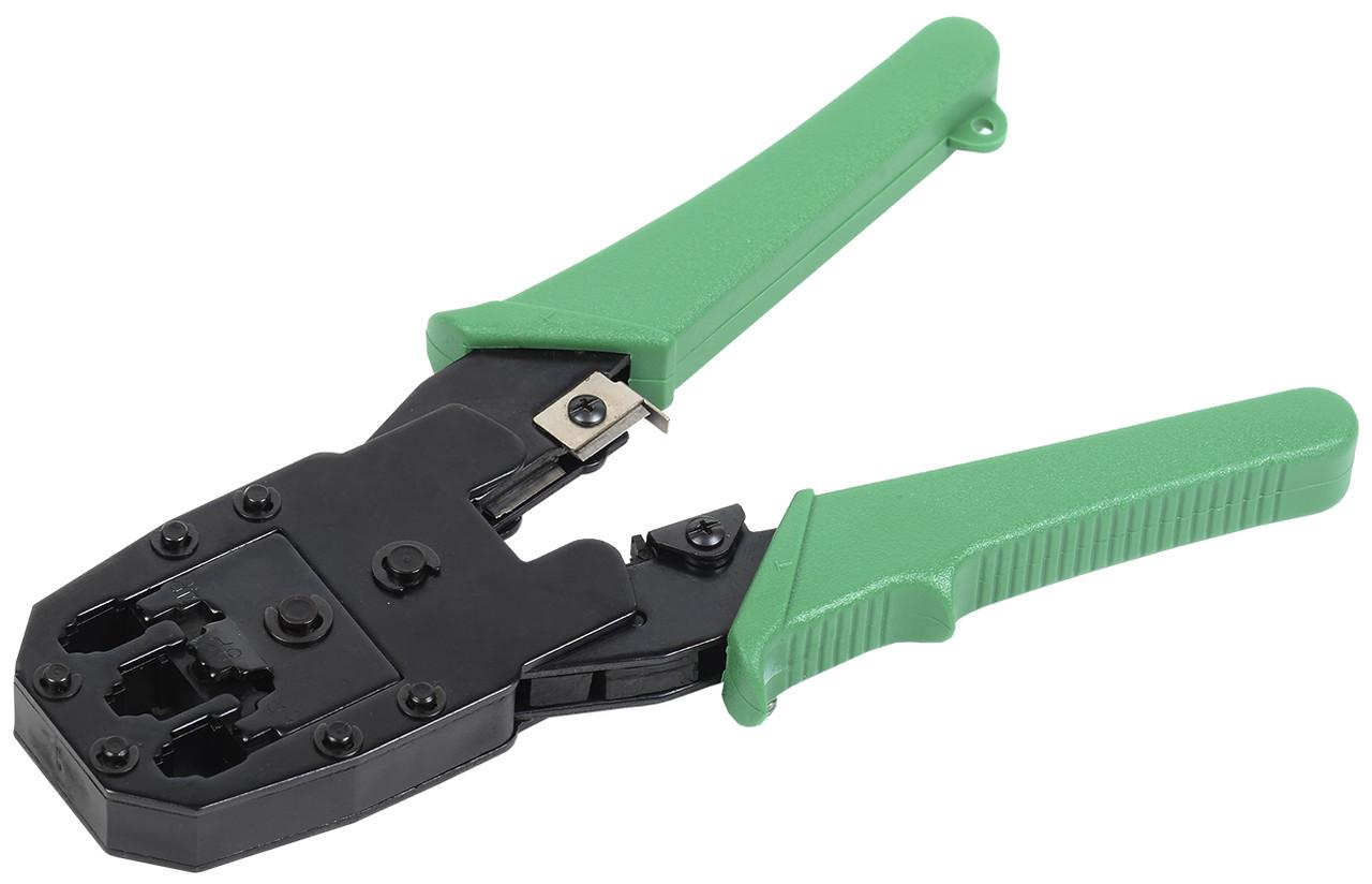 Обжимные клещи ITK TM1-G10V с зелеными ПВХ ручками