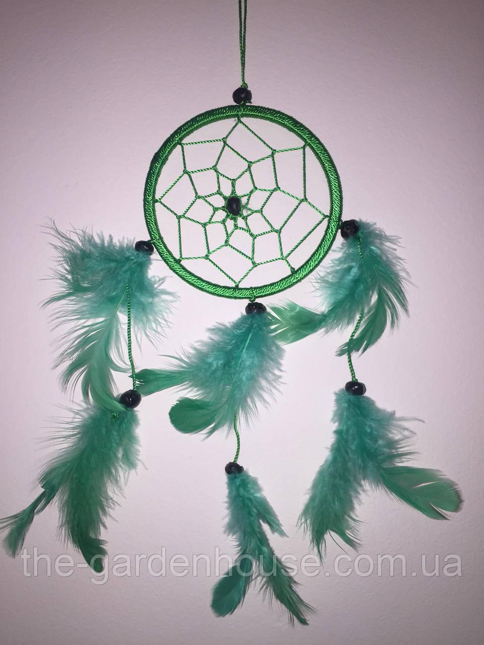 Ловец снов зеленый, d-9 см