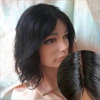Парик из натуральных волос с пробором шоколадный ASOLE-4