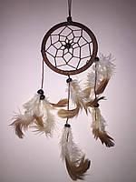 Ловец снов коричневый, d-9 см