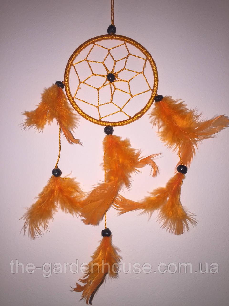 Ловец снов оранжевый, d-9 см
