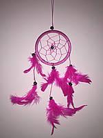 Ловец снов розовый, d-9 см