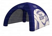 Надувной промо шатер для проведения мероприятий с брендированием 4х4м