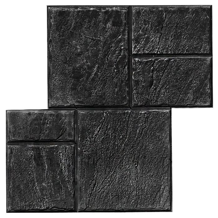 Старый Бердянск №2 - штамп 490х490 мм; имитация песчаной тротуарной плитки; форма для печатного бетона