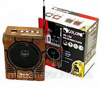 Радиоприемник колонка MP3 Golon RX-188 MIC WOODEN