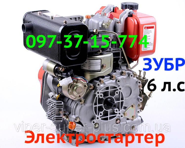 Дизельний двигун 178FЕ з Електростартером 6 л. з під шліци на мотоблоки