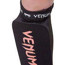 Защита голени и стопы чулочного типа с фиксатором на липучке Venum (XS-XL) Черный-белый XS PZ-MA-6239_1, фото 2