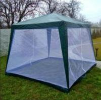 Садовый павильон-шатер Unmor с москитной сеткой и молниями 2.4 (3x3 м)