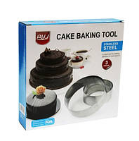 """Комплект форм для выпечки тортов и десертов """"Кольца"""", металлические"""