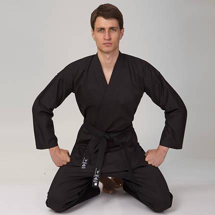 Кимоно для каратэ Matsa (хлопок-плотность 240г на м2, размер 0-7, рост-130-200см, черный) 0 (рост 130) PZ-MA-0017_1, фото 2