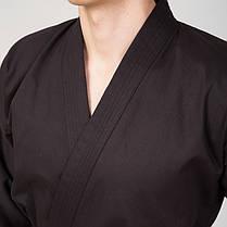 Кимоно для каратэ Matsa (хлопок-плотность 240г на м2, размер 0-7, рост-130-200см, черный) 0 (рост 130) PZ-MA-0017_1, фото 3