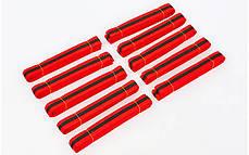 Пояс для кимоно двухцветный (хлопок, размер 00-5, длина 220-280см, красный-черный) 00-0 длина 220см PZ-BO-7265_1, фото 2