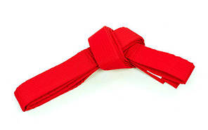 Пояс для кимоно Champion (хлопок, полиэстер, длина-260-300см, красный) 3 длина 260см PZ-CO-4077_1, фото 2