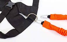 Поводок-амортизатор с рукоятками и латеральный амортизатор для ног в комплекте PHYSICAL ABILITY TRAINER (полиэстер) PZ-FI-6557, фото 3