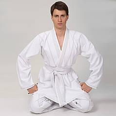 Кимоно для джиу джитсу белое Velo (хлопок, 1-7 (140-200см), плотность 350г на м2, пояс в комплект не входит, белый) 1 (рост 140) PZ-VL-6649_1