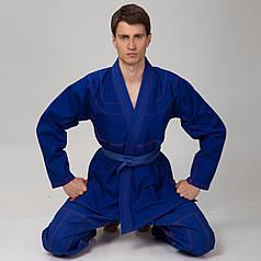 Кимоно для джиу джитсу синее Velo (хлопок, 1-7 (140-200см), плотность 350г на м2, пояс в комплект не входит, синий) 1 (рост 140) PZ-VL-6651_1