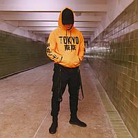Мужская спортивная кофта с капюшоном / худи TOKYO оранжевая, фото 1