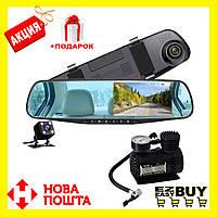 Зеркало-видеорегистратор Blackbox DVR Full HD с камерой заднего вида. Оригинал. Насос в подарок!