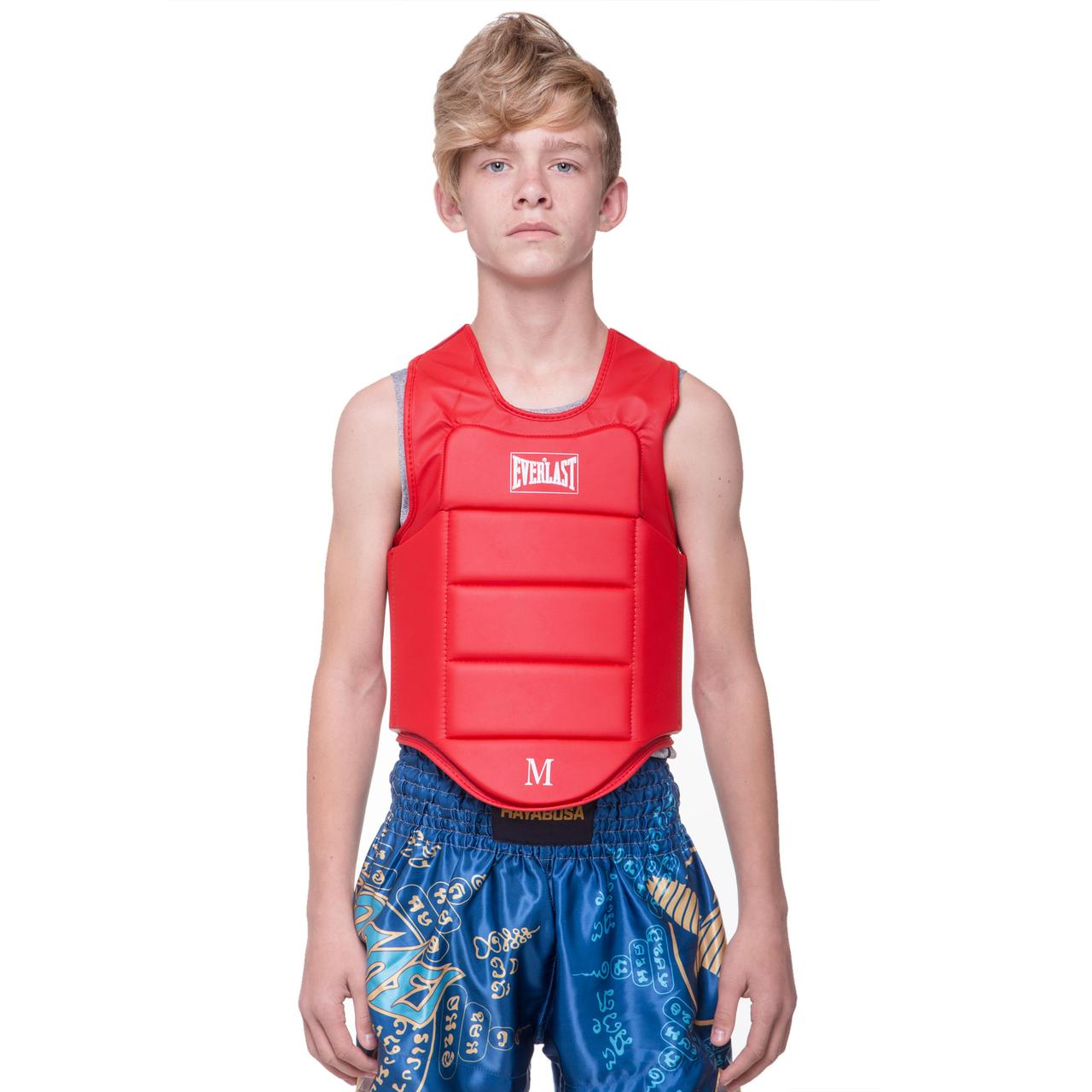 Защита корпуса (жилет) для каратэ детская Everlast (PU, XXS-XL) Красный XXS (4-5 лет) PZ-BO-3951_1