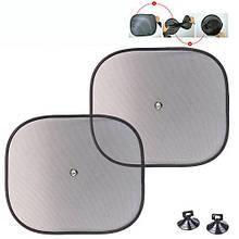 Солнцезащитные шторки для окон автомобиля боковые квадратные (440X380)