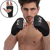 Накладки (перчатки) для каратэ Zelart (PL, хлопок, эластан, S-XL, черный) PZ-ZB-6125