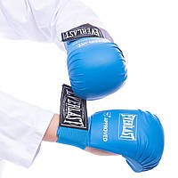 Перчатки для каратэ Everlast (PU, S-XL, манжет на резинке) Синий L PZ-BO-3956_3