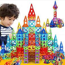Дитячий магнітний конструктор magical block 72 деталі в боксі, фото 2