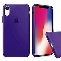 Чехол накладка xCase для iPhone XR Silicone Case Full purple