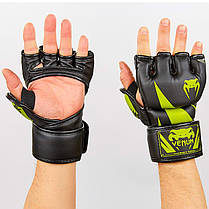 Перчатки для MMA PU Venum (M-XL) Черный-красный M PZ-BO-8355_1, фото 2