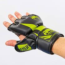 Перчатки для MMA PU Venum (M-XL) Черный-красный M PZ-BO-8355_1, фото 3