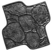 Садовый камень Галька - штамп 600х600 мм из вулканизированной резины; оттиск с имитацией камня для бетона, фото 1