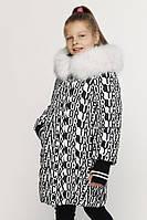 Детская зимняя куртка X-Woyz DT-8291-5 (Белый-черный)